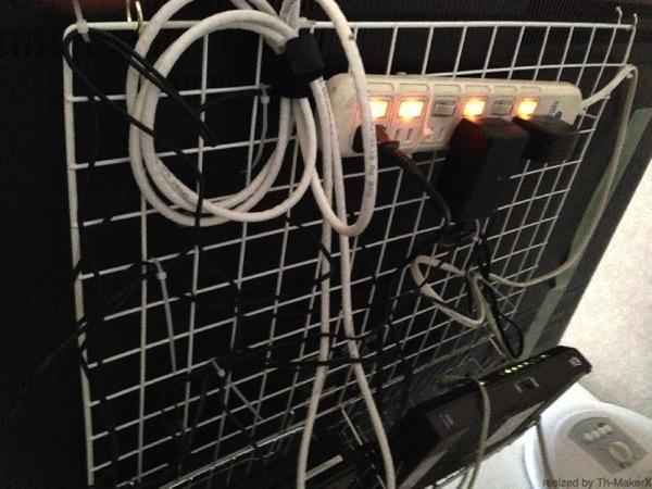 ワイヤーネット収納活用