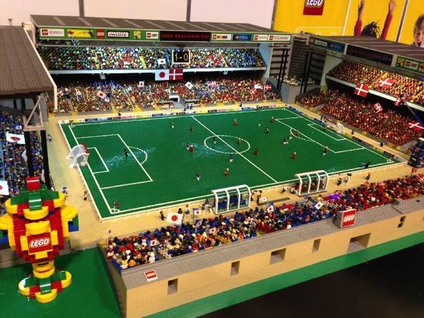 レゴのサッカースタジアム