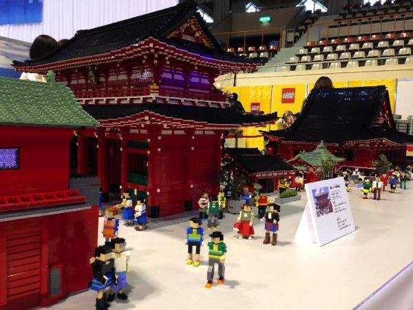 レゴで作った雷門と浅草寺