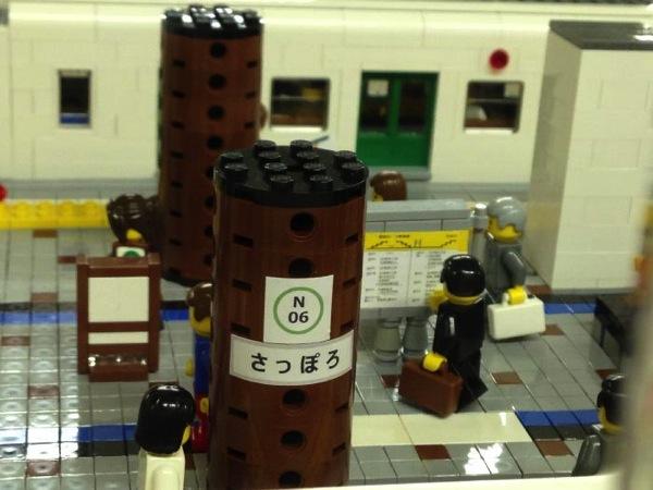 札幌駅の地下鉄レゴブロック