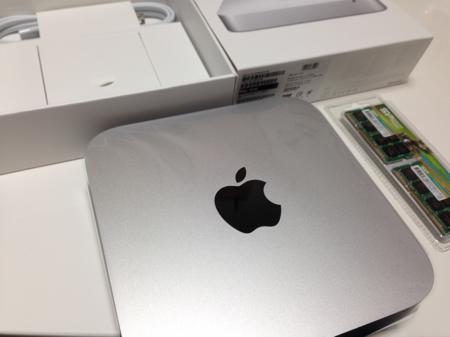 Mac miniのメモリー増設